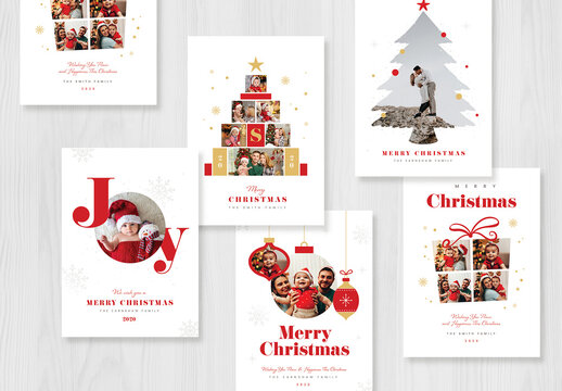 Christmas Photo Card Layout