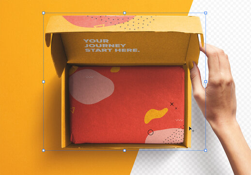Hand Opening Postal Box Mockup