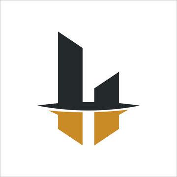 Initial letter LH logo or HL logo vector design template