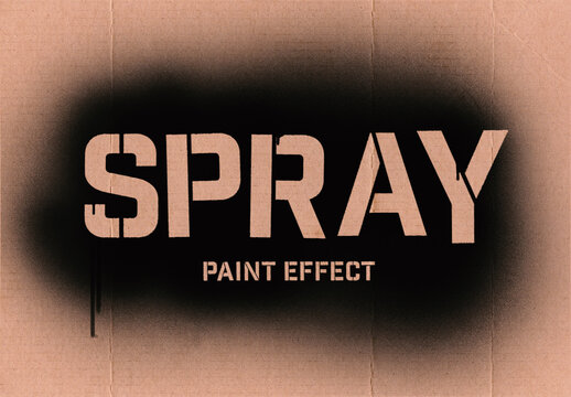 Spray Paint Text Effect Mockup