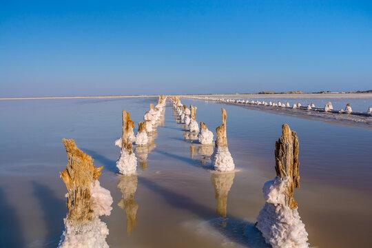 Salt mining lake