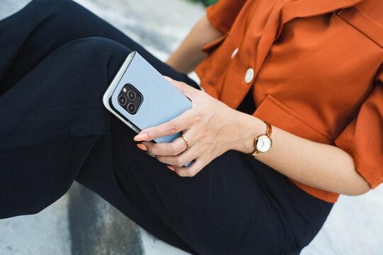 Phone premium leather case lifestyle