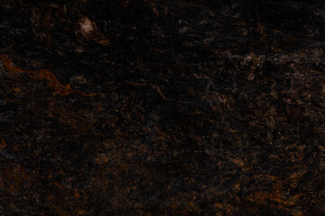 Metalicus - natural polished black, orange granite stone slab, texture for perfect interior or other design project.