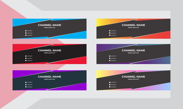 Youtube Channel Art, This is a channel art template design, It can be used in social media cover