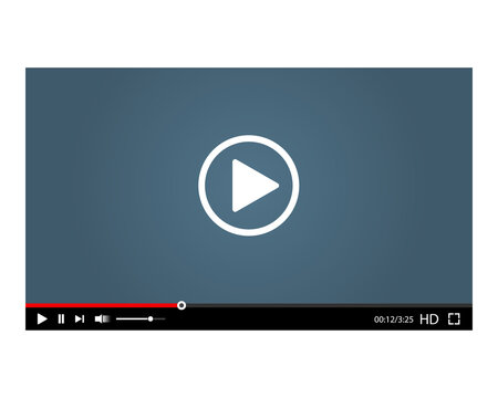 Video player interface. Vector illustration