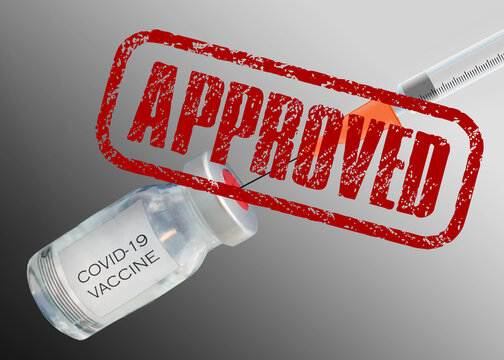 Illustration of the concept of Vaccine Product Approval Process by Food and drug administration (FDA) or center of disease control (CDC) or health authority