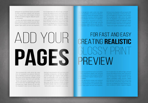 Glossy Magazine Pages Mockup