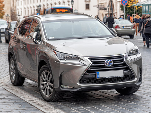 Budapest, Hungary - October 28, 2017: Lexus NX 200 parked on the streets of Budapest.