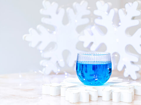 Blue Cocktail for the Holidays and New Year