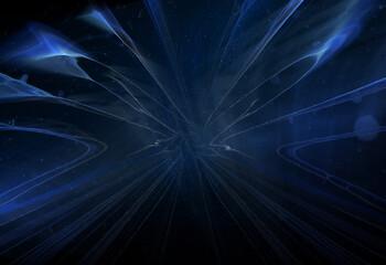 Wall Mural - abstracta, alumbrado, fractal, azul, espacio, negro, tecnología, ilustración, con textura, energía, brillante, fondo