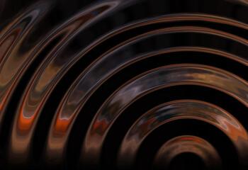 Wall Mural - abstracta, metal, tecnología, metálico, negro, ondas