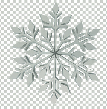 3d silver snowflake png