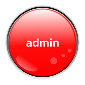 red button with white sign admin