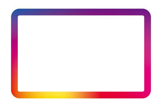 snsのグラデーションの四角線