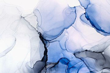 Modern hand painted artwork of abstract transparent alcohol ink background. Art for design