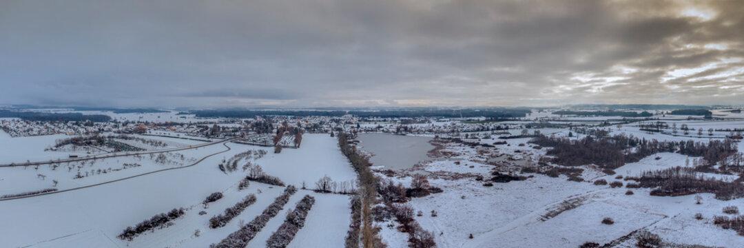 Winteridylle über Altshausen   Oberschwaben   Deutschland