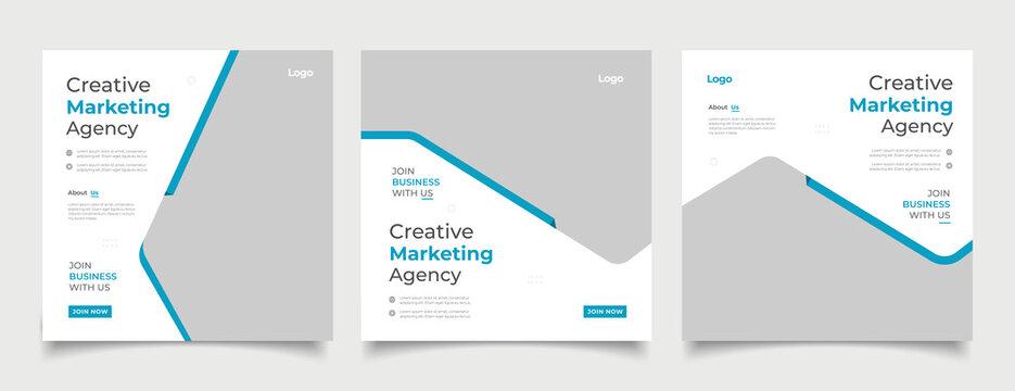 Digital business marketing banner for social media post template