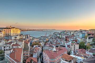 Wall Mural - Istanbul and Bosphorus skyline, HDR Image