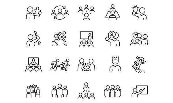 Business Leadership icons vector design