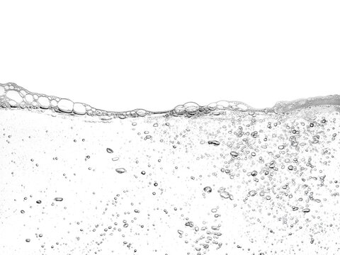 Soapy water with bubbles floating on surface of wash water