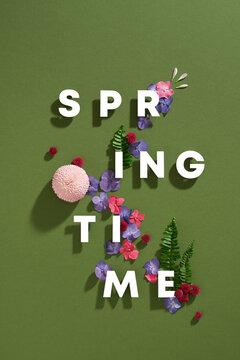 Spring minimal concept.