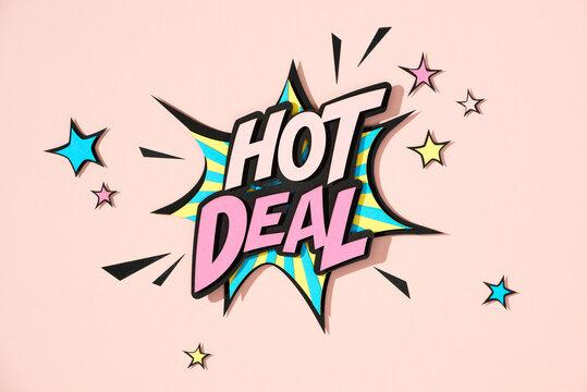 Hot deal. Pop art style.