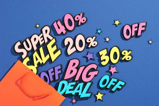 Sale banner template design. Big sale special offer.