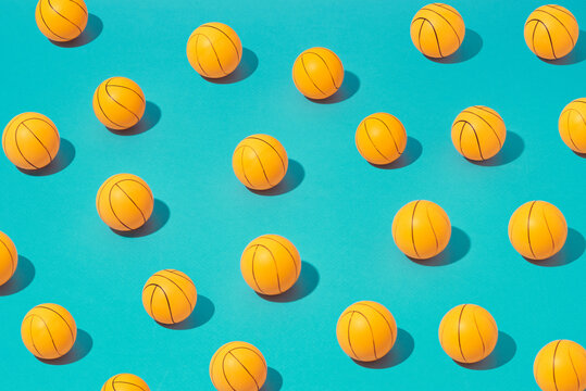 Tennis balls pattern with shadows.