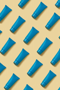 Pattern from mock up cosmetic tubes.
