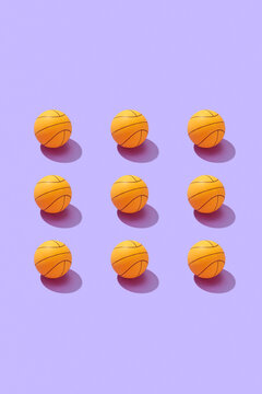 Square basket balls pattern.