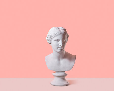 Venus goddess gypsum statue.