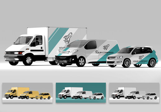 Mockup of a Car Collection