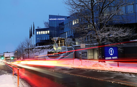 General view shows the headquarters of Swiss logistics group Kuehne + Nagel in Schindellegi