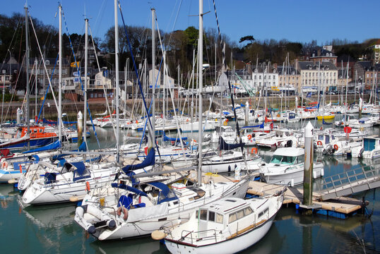 Ville de Saint-Valéry-en-Caux, département de Seine-Maritime, France