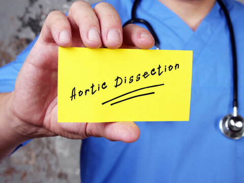 Aortic Dissection  phrase on the piece of paper.