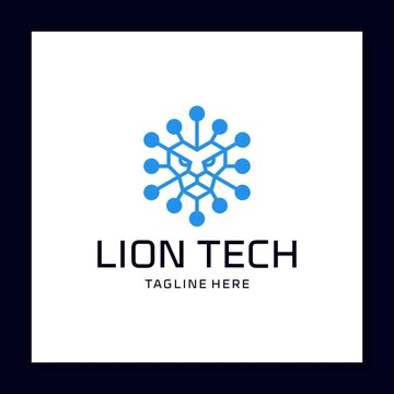 lion tech logo designs