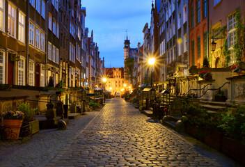 Gdańsk, ulica Mariacka, klimatyczna uliczka
