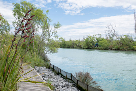 Walkway on side of Kaiapoi River