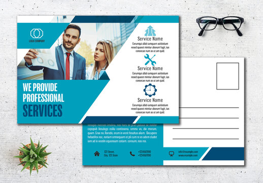Business Postcard Layout