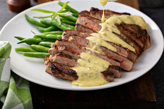 Steak with bearnaise sauce made with tarragon