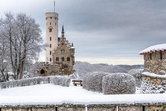 Burg Lichtenstein im Schnee