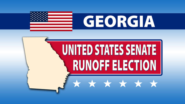 Georgia United States Senate Runoff Election - Illustration