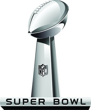 Superbowl cup vector illustration, editorial
