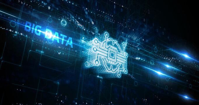 Business, Technology, Internet and network concept. Big Data Internet Information.