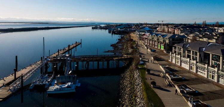 Steveston aerial panorama - Richmond, BC Canada