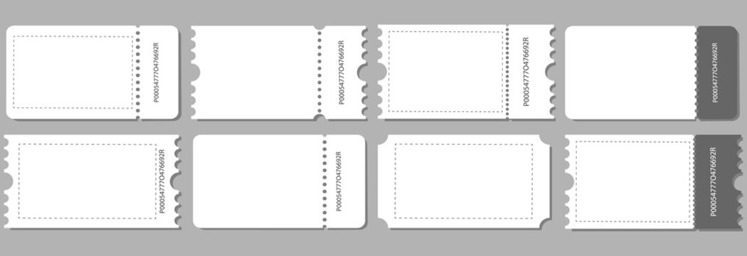 Coupon cards ,tickets,gift vouchers or certificates.Discount coupon ,ticket card of promotion sale for website,social media. Set of cards on grey background, vector Illustration.