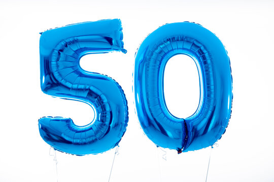 Geburtstags Zahl 50 Helium Ballons