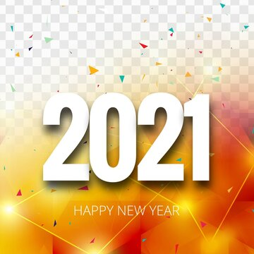 Happy new year 2021  beautiful celebration card background