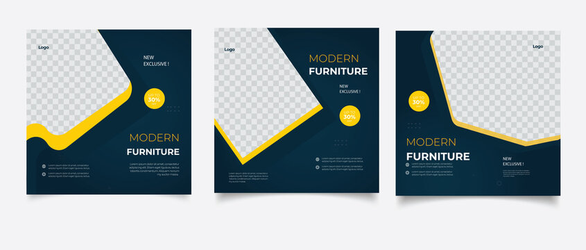 Furniture social media post templates