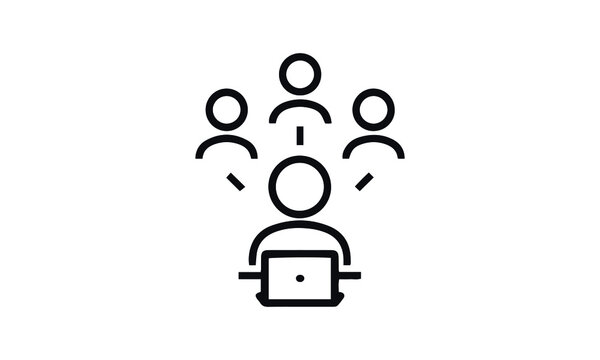 Business Networking icon vector design